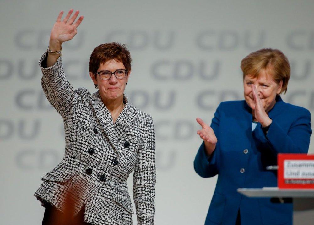 Annagret Kramp-Karrenbauer after being elected leader of the CDU. (Odd Anderson/AFP via Getty Images.)