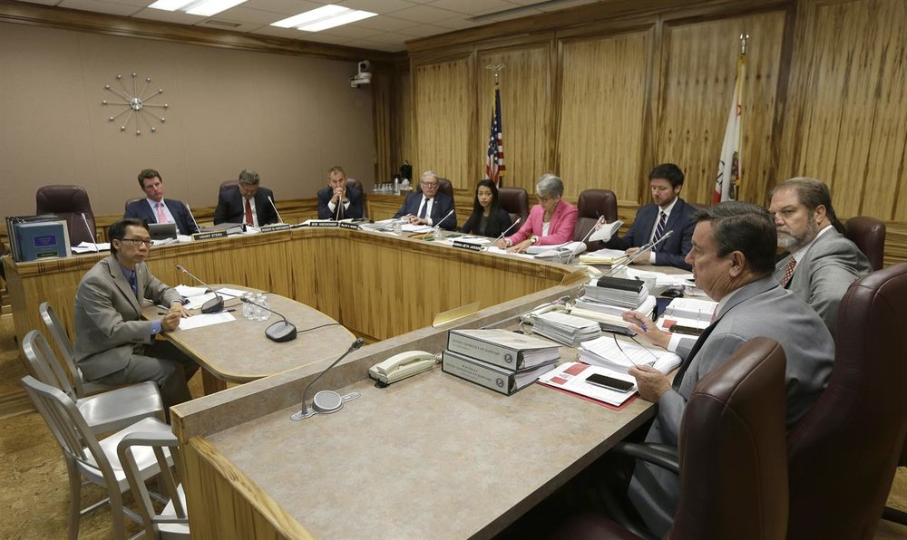 A session of the California State Senate Committee on the Judiciary. (Rich Pedroncelli/Associated Press.)