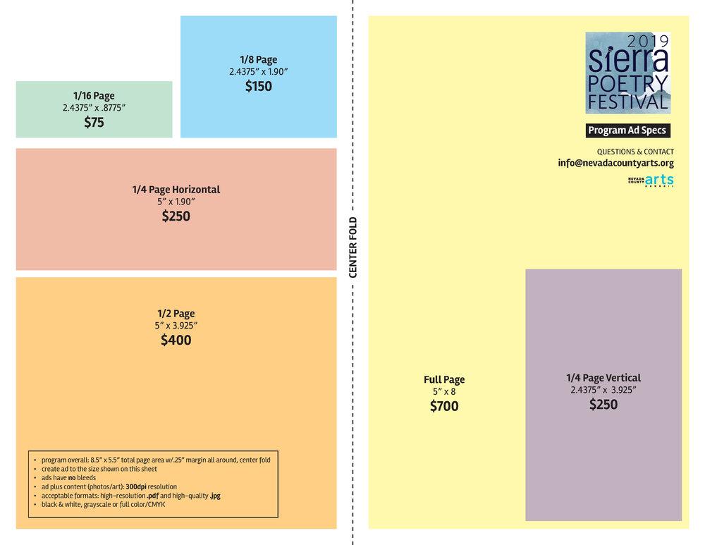Print program advertising -