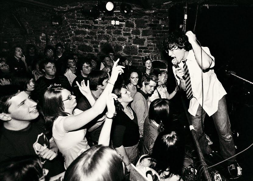 Performing at the Cavern Club, Exeter, UK, May 2007