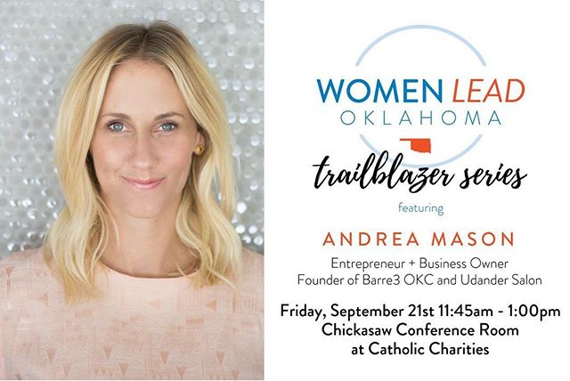 🌧 Rain, schmain!🌧 Join us today for lunch, networking, and story sharing with Oklahoma Trailblazer, @andreadmason! #learnconnectact #womenleadok