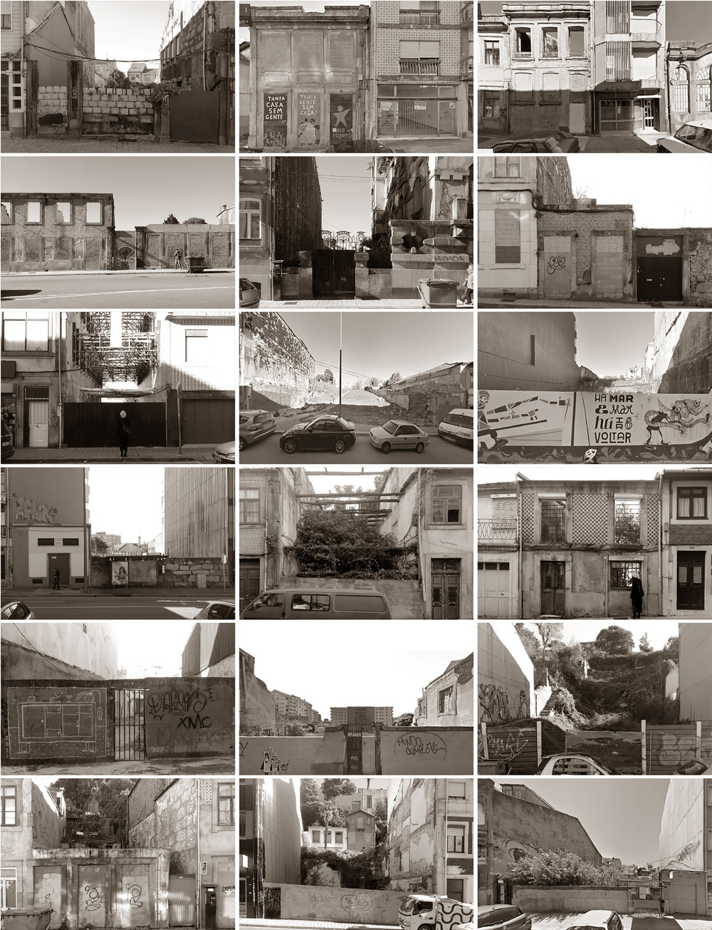 vacant plots in one single neighbourhood  Porto, 2016