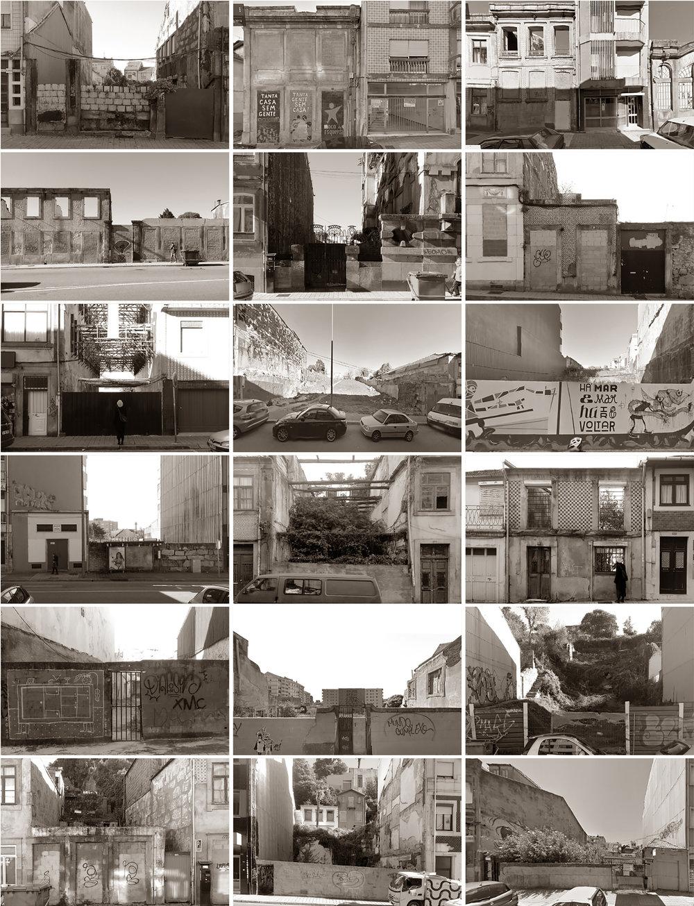 vacant plots in one single neighbourhood  Porto, 2016