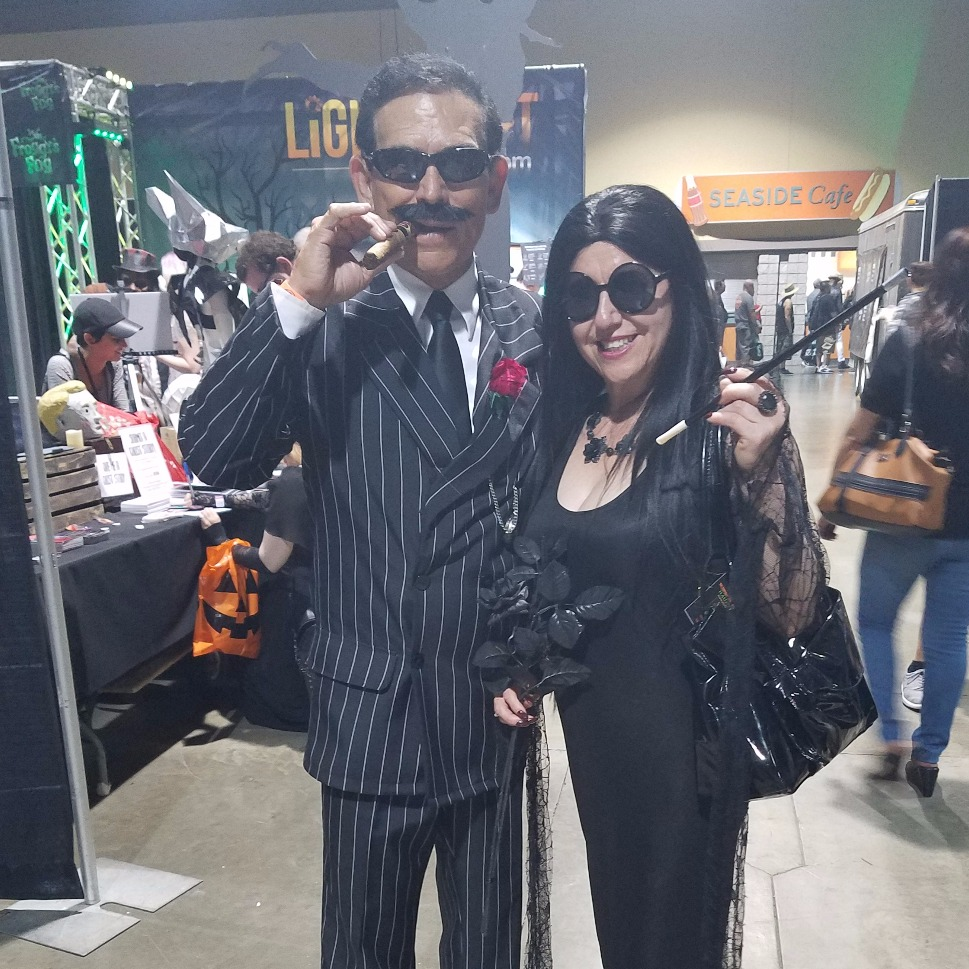 Gomez and Morticia Adams