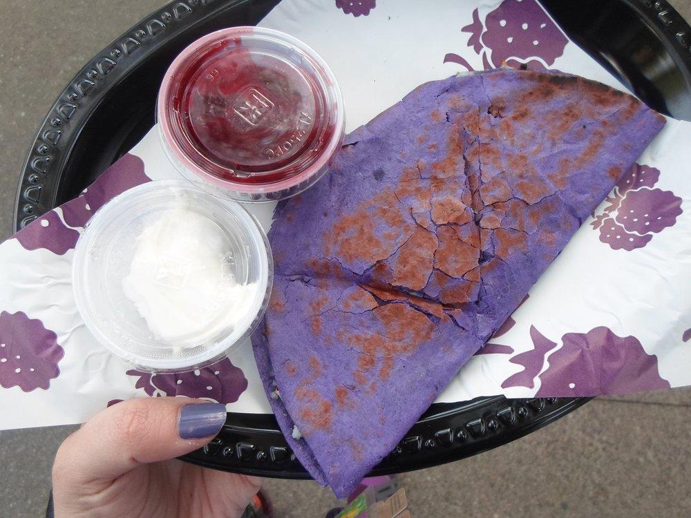 Boysenberry Quesadilla