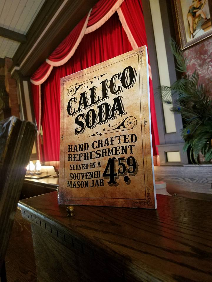 Calico Soda in the Saloon