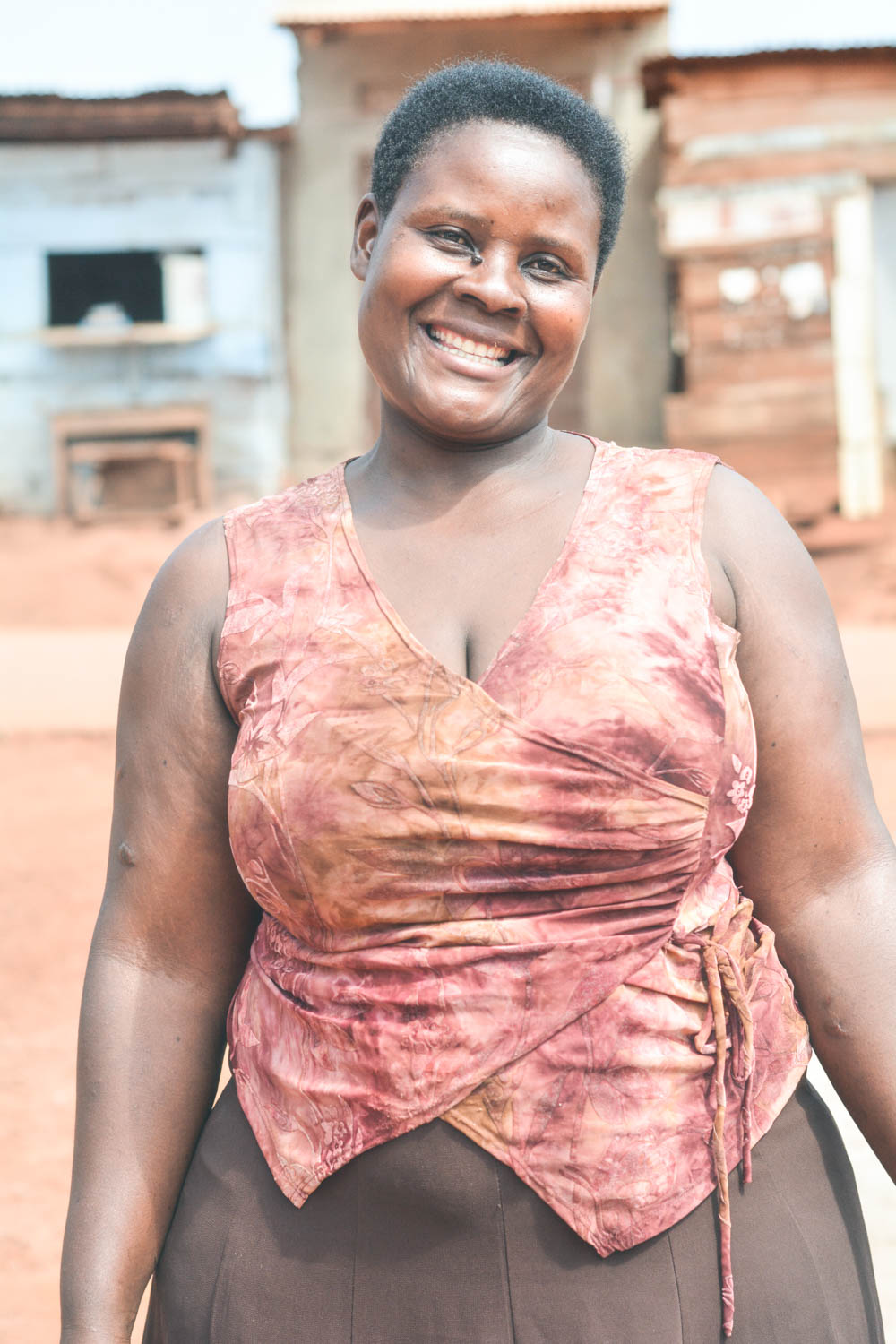 Naluyange Cathy is the mother to five boys (including two sets of twins!), and Amaani's Production Manager. Due to her employment at Amaani, she was recently able to move her family from one of Lugazi's rougher slum communities to an apartment with running water!