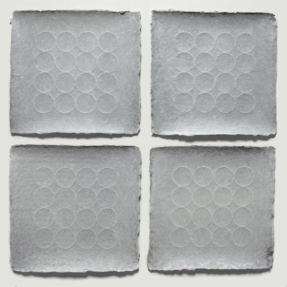 Grid Relief Quadriptych, 2018