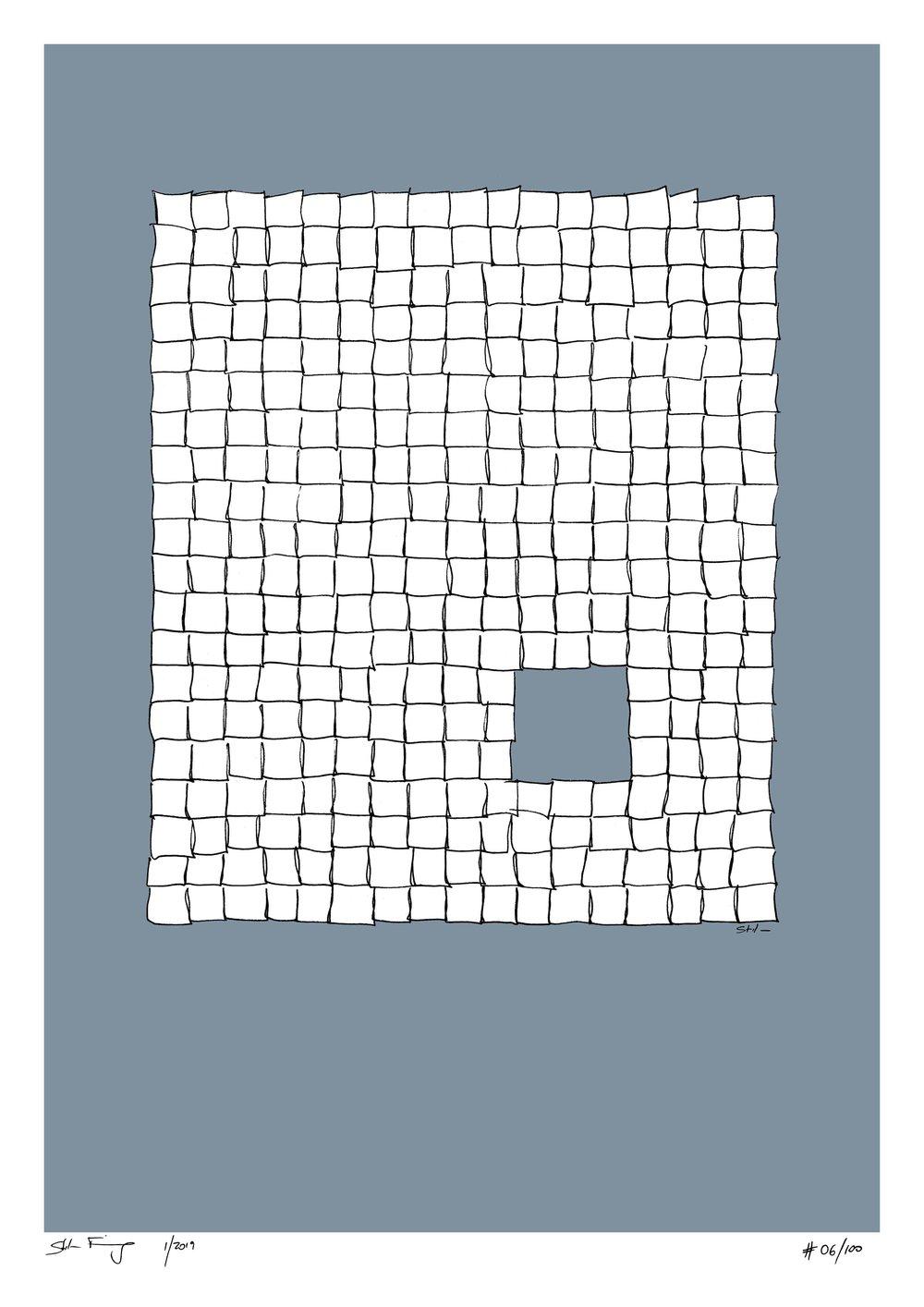 Blue Bee Gallery - Stefan Finsinger - Glimpse - Squared Pattern Artwork