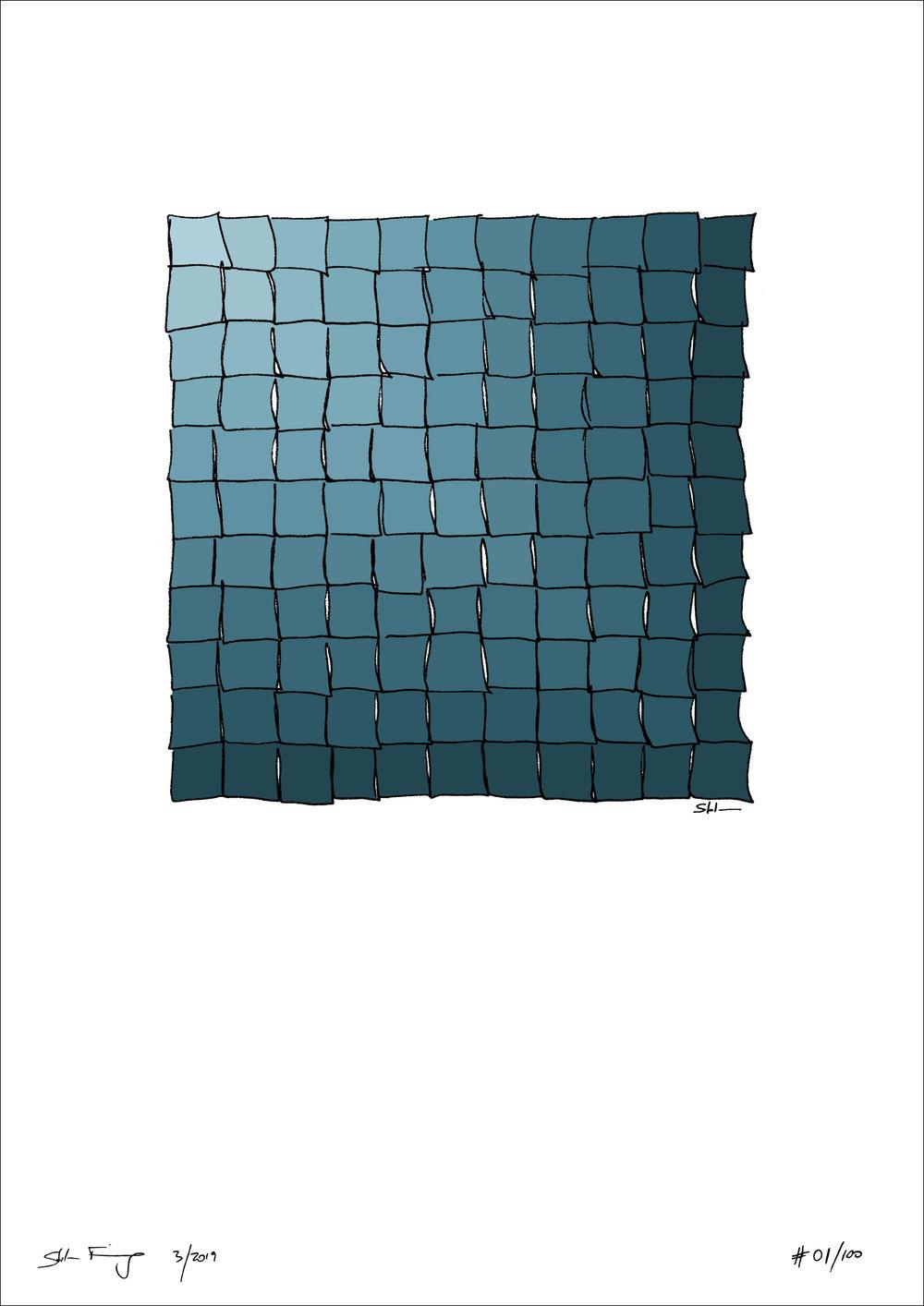 """Blue Bee Gallery - Stefan Finsinger - """"Deep Ocean"""" - Limited Edition Print - Pattern Art - Minimalisn"""