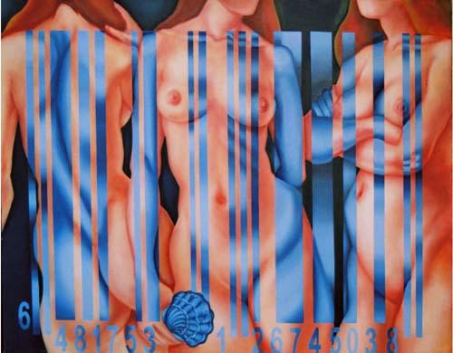 8-üçgüzeller2 three graces, las tres graices,116x89 tuv.üstyboya , oil on canvas,óleo sobre tela.jpg