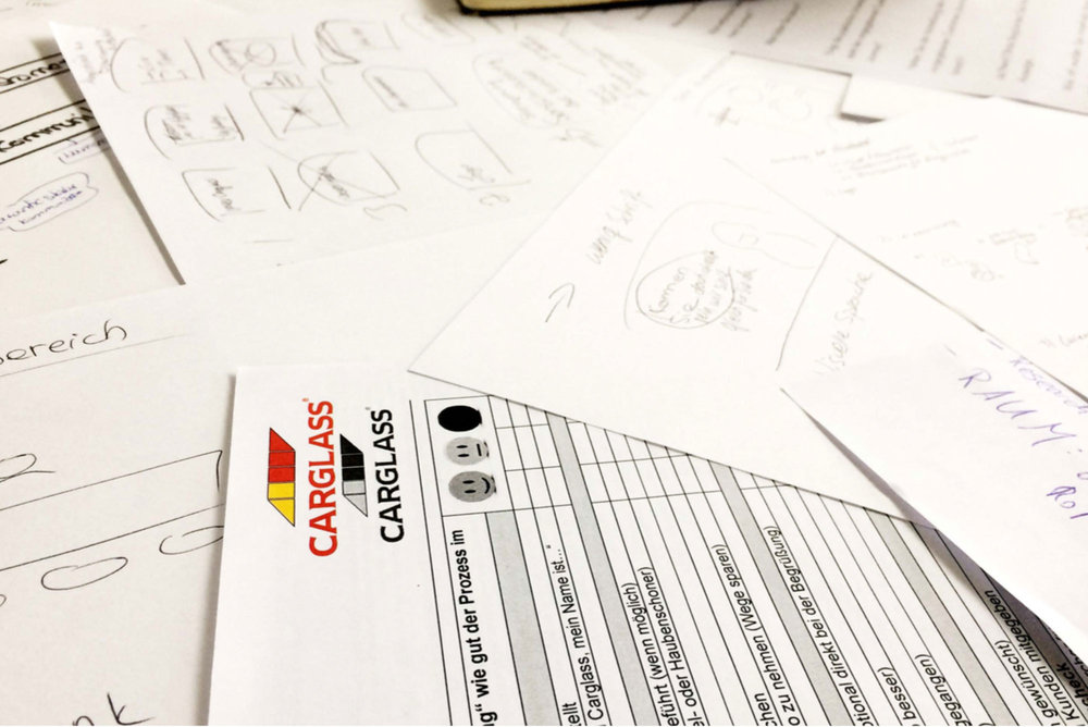 Stein gehabt! Ein Projekt mit Carglass® - Design Konzept // UX-Design // Service Design