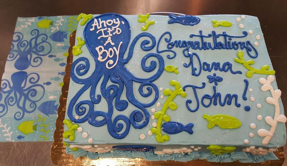 Octopus Baby Shower Cake