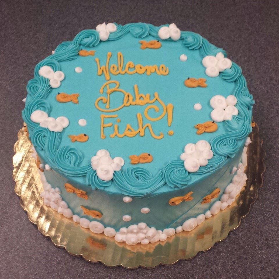 Goldfish Baby Shower Cake