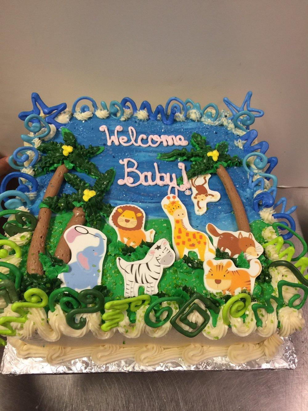 Jungle Baby Shower Cake 2