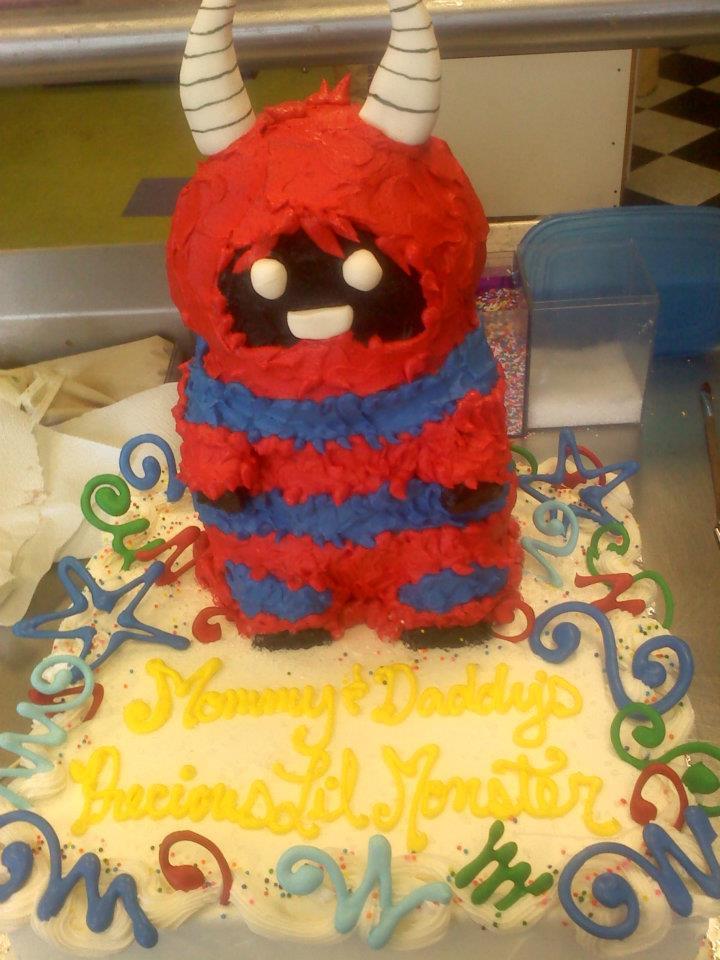 Monster Baby Shower Cake