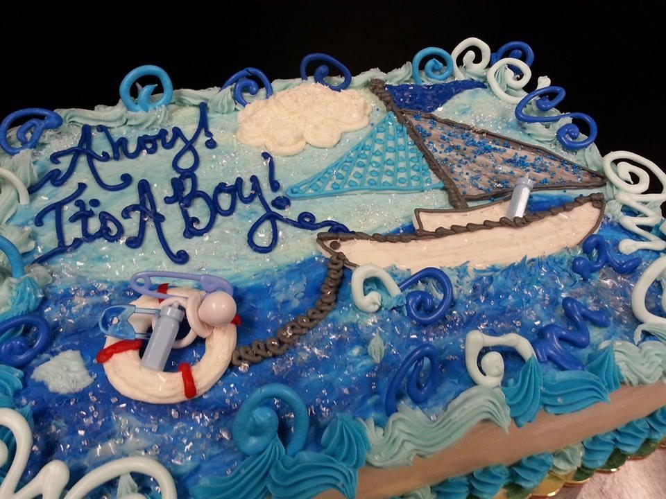 Ahoy! Baby Shower Cake 2