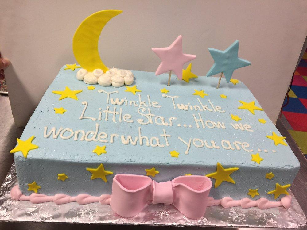 Little Star Gender Reveal Cake