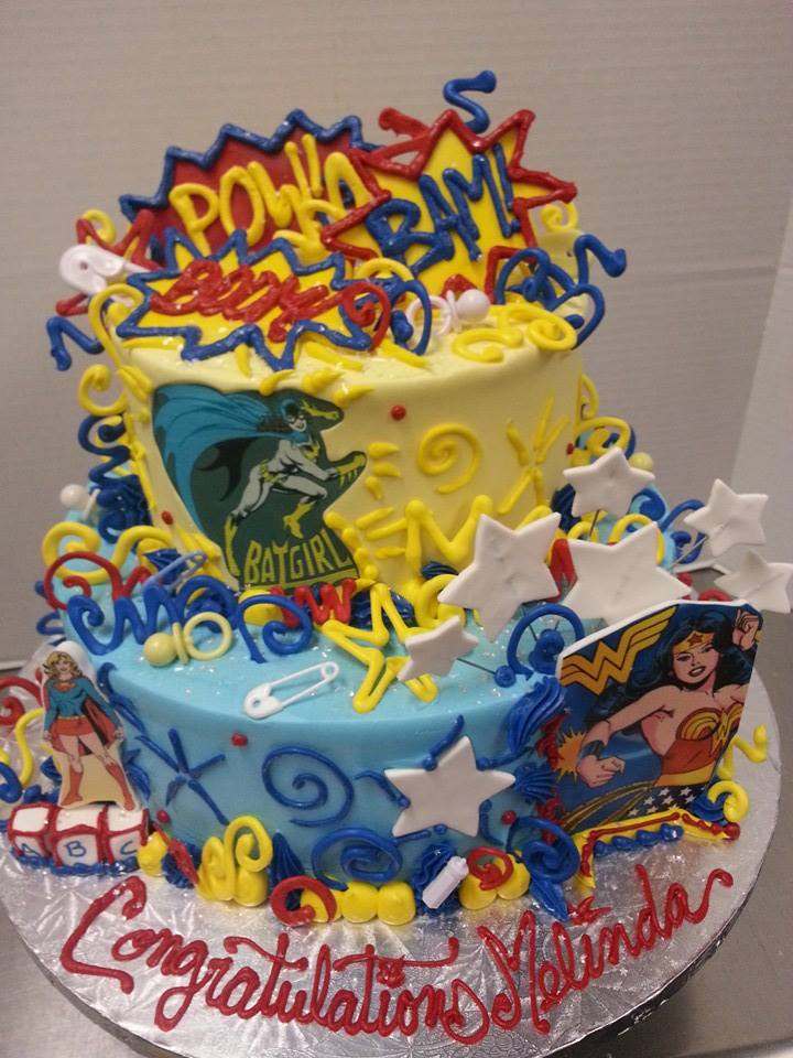 Superhero Baby Shower Cake