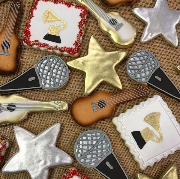 Music Stars Guitars Grammy Cookies