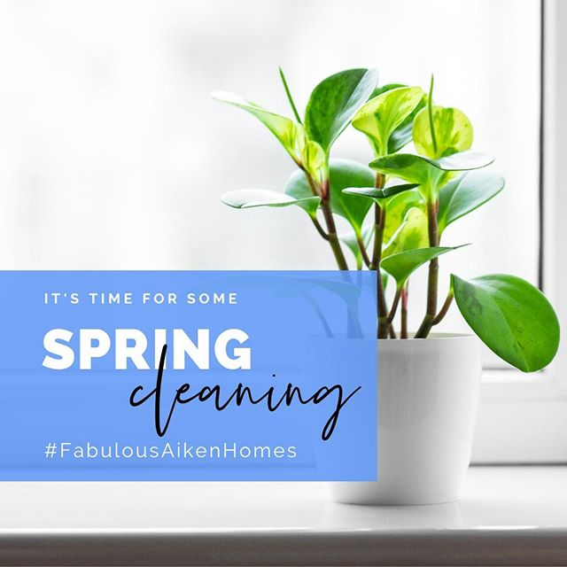 Spring is here in full swing, and you know what that means, it's time for spring cleaning. Check out our blog for some helpful tips to help get you started! Link in bio #FabulousAikenHomes #Southcarolina #Aiken #spring #springcleaning