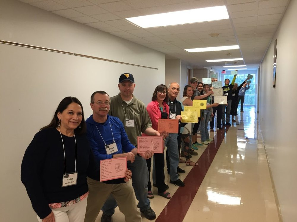 SJS educators, training at Green Bank Observatory, in West Virginia.