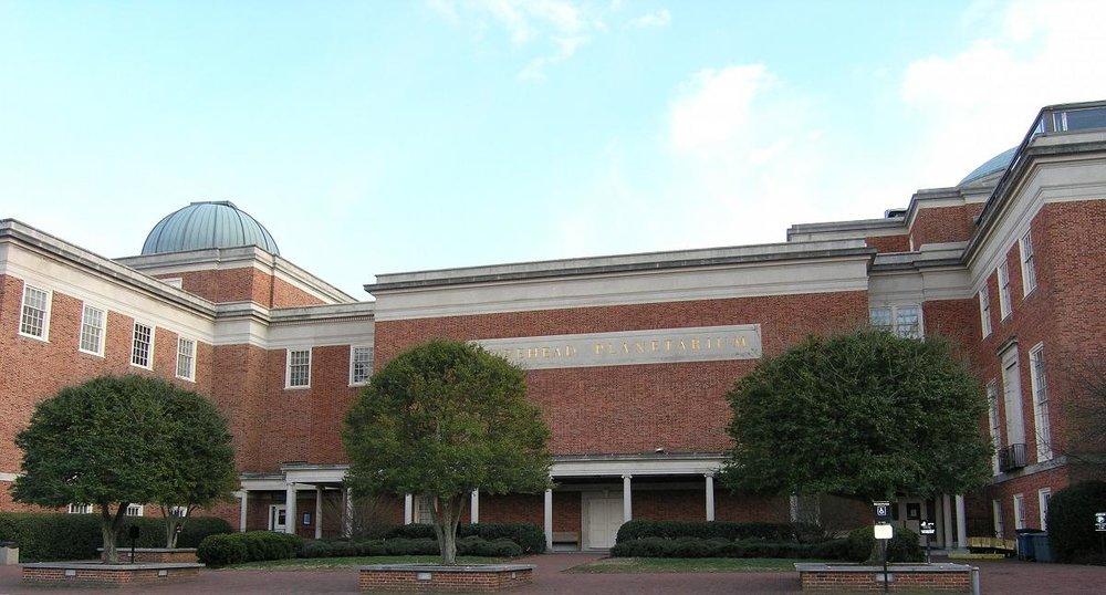 Morehead Planetarium and Science Center at the University of North Carolina at Chapel Hill.