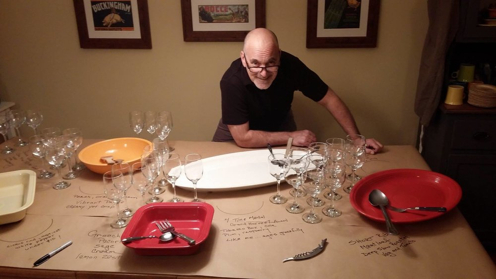Winemaker dinners on the East coast with fabulous chefs! - Chef Victor O. had been wine tasting in both Napa & Sonoma Valleys for a week and sent an email regarding my 2012 Cabernet Sauvignon: