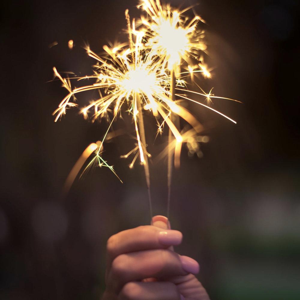 NO Fireworks or sparklers -