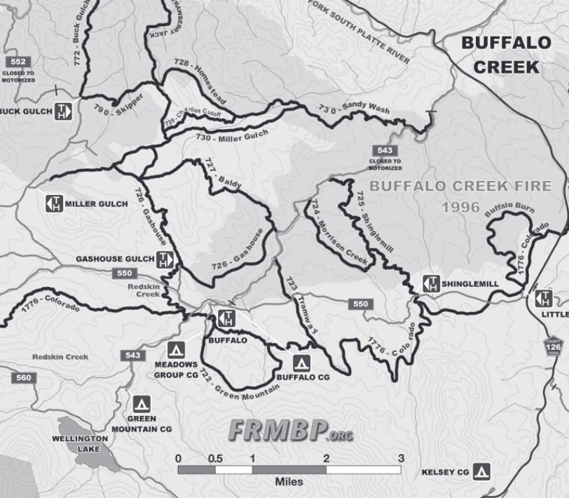 Click to view the Buffalo Creek Map.