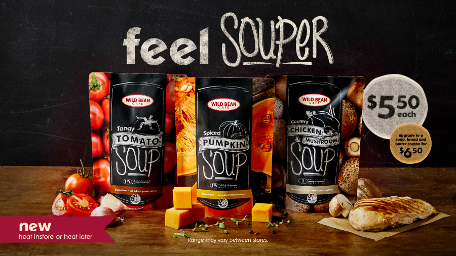 Wild Bean Cafe Branded Soup Packaging Design and Launch