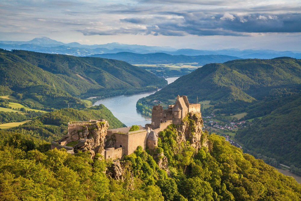 Ruined Medieval Castle on Romantic Danube River Cruise
