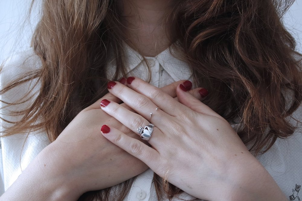 Claddagh - ·The claddagh represents love (heart), loyalty (crown) and friendship (hands) with the circular knot showing continuity.