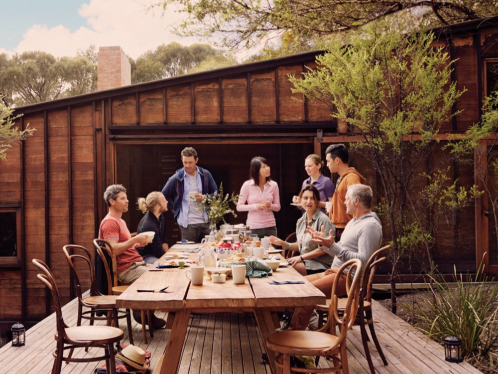 The checkout experience on the Freycinet Experience Walk includes a beautiful, ceremonial meal, served outside, so that guests and their fellow walkers can recount stories of their shared experiences.