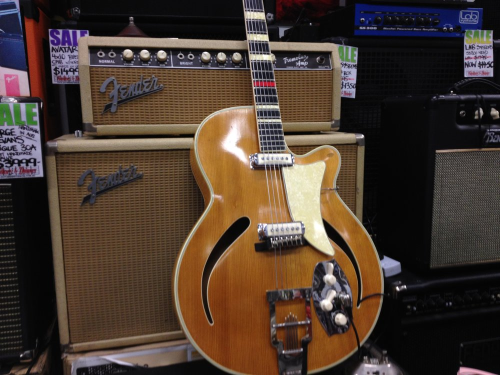 Vintage Fender Tremolux and 1954 Hoyer Archtop