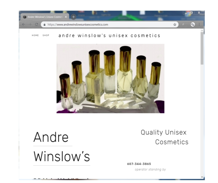 This Web Commerce site was constructed to show the perfume and bottles. This site features eCommerce functions including a shopping cart program that automatically takes orders and sends them directly to the owners email address.      Click on the thumbnail to go to this site.