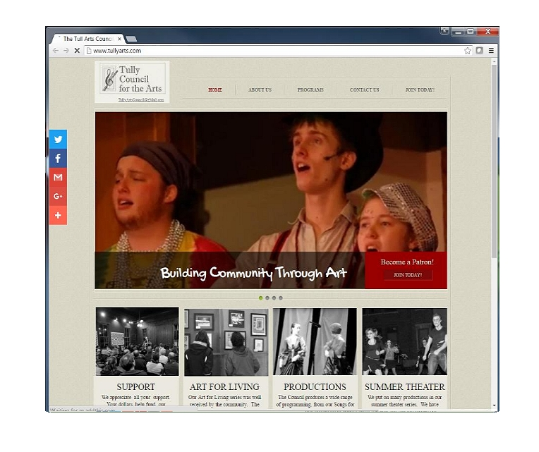 This WebSite was made to focus on the different projects by the Tully Council For The Arts. It was primerily designed to showcase the talent of the members and the children, including art work, plays and musicals    This site has not been maintained and is currently off line.