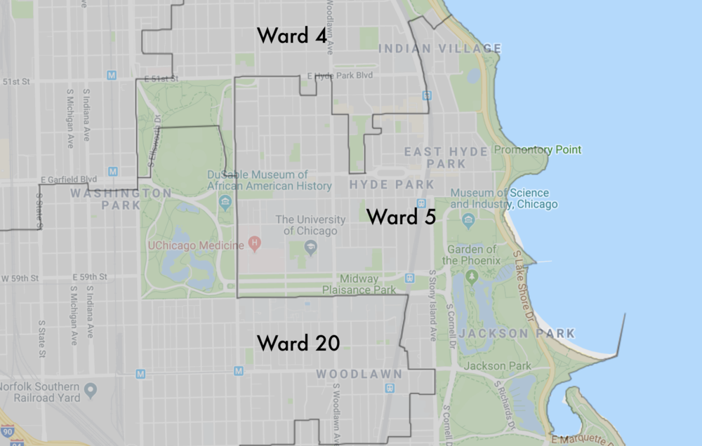 Neighborhood Wards - The greater University of Chicago community is represented in the city council by the fourth, fifth, and twentieth ward aldermen.See which ward you live in here.