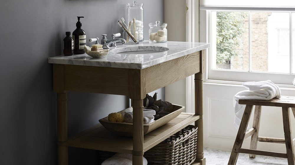 Edinburgh Open - Open Washstand | Solid Oak
