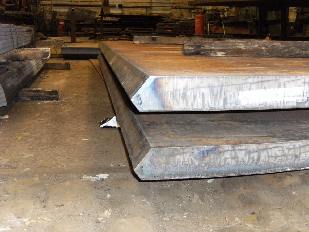80mm thick dished end weld profile