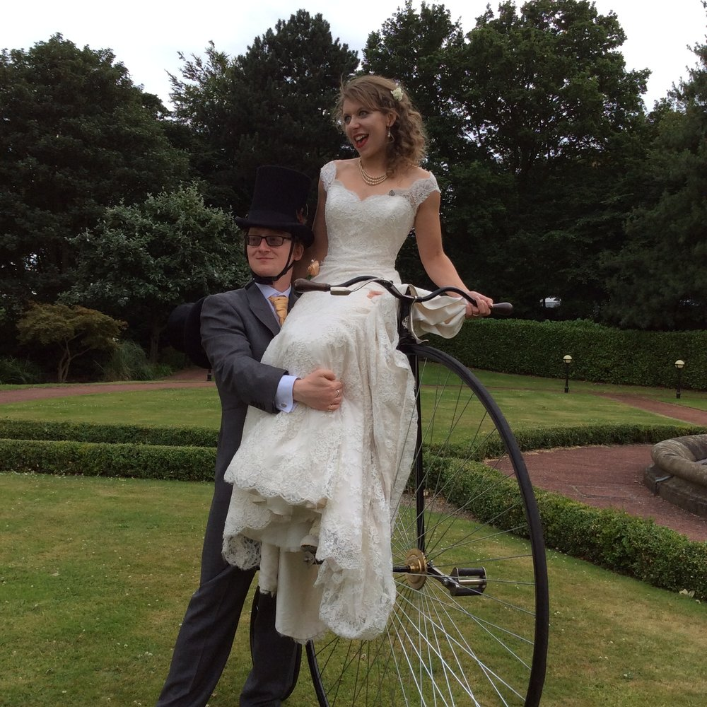 PERFECT PICTURE - We provide the most authentic and magnificent Victorian Penny Farthing bicycle for you to use as the perfect photographic prop!You can trust that the Penny Farthing delivered with this specialist service will be of perfect condition, with hours of polishing and detailed quality.