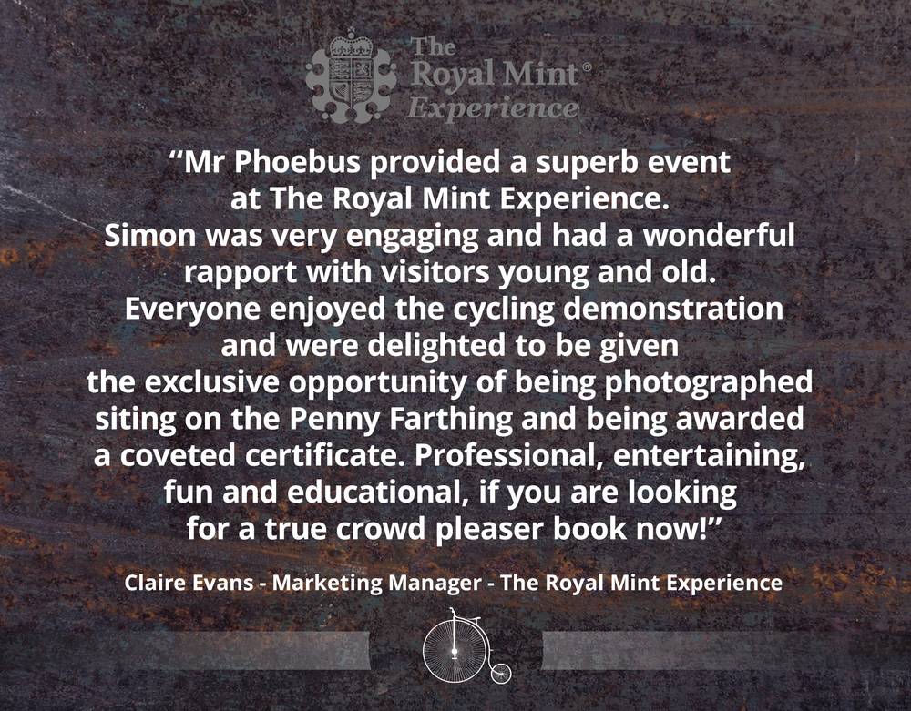 ROYAL MINT TESTIMONIAL - MR PHOEBUS