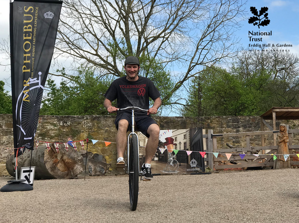 Penny Farthing Day at Erddig National Trust