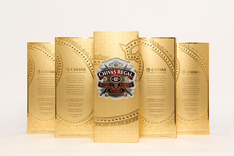 Gold limited edition drinks pack