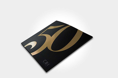 Gold foiled brochure