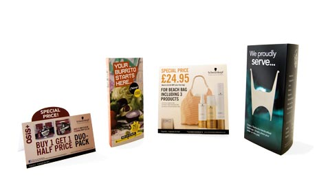 point of sale - Whether you want wobblers, tent cards, counter displays or leaflet dispensers, we ensure high quality and fast turnaround
