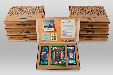 Personalised mailer packs with image, text and content variations