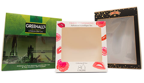 Gift Boxes for combining products with window patch