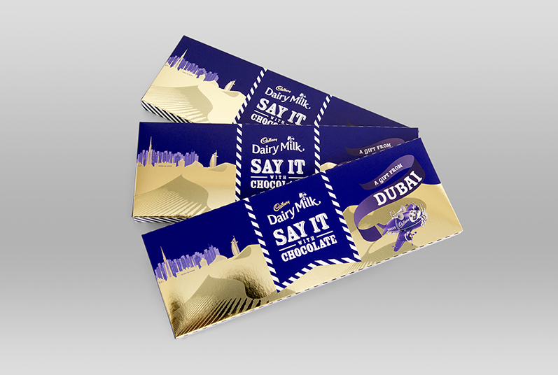 Gold Foiled chocolate packaging for limited edition promotion