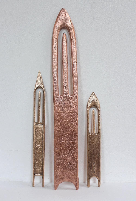 Plastic Needle I, Wooden Needle + Plastic Needle II